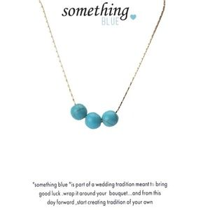 Genuine Blue Gemstone Gold Wedding Necklac…